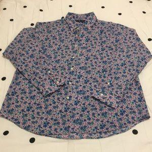 Polo men's button-up, long-sleeve shirt